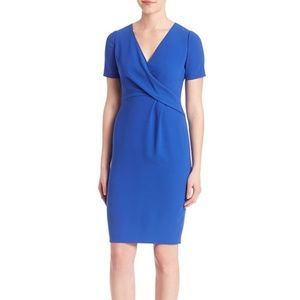 Elie Tahari Deandra Blue Short Sleeve Sheath Dress